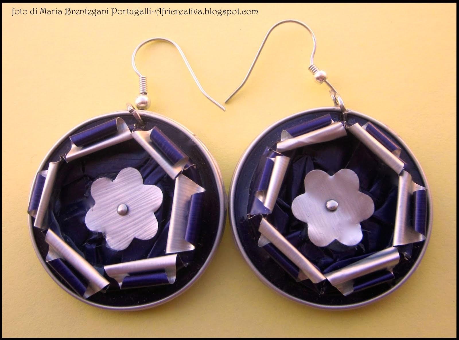 Orecchini  petali viola