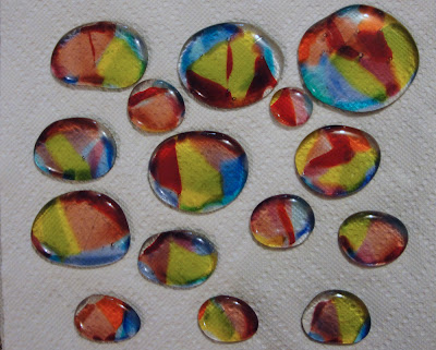 fused glass color dilution bullseye scrap transparent glass jellyfish body flutterbyfoto flutterbybutterfly