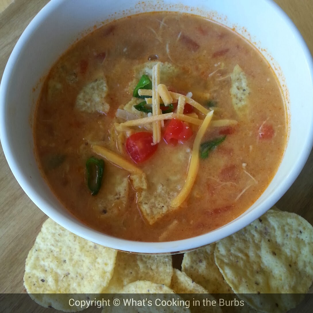 What's cooking in the burbs: Creamy Crock Pot Chicken Enchilada Soup