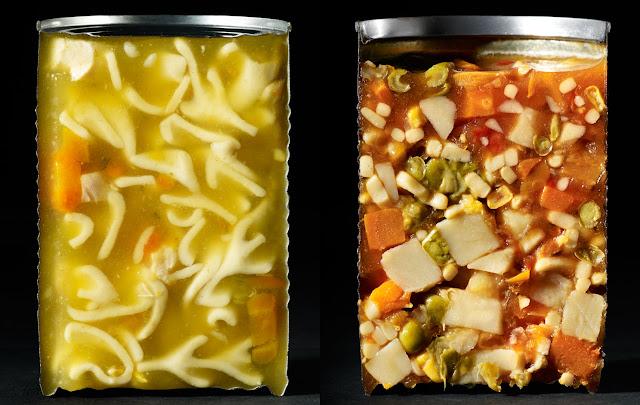 Foto-foto makanan dibelah dua