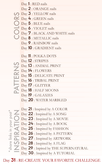 31 days challenge nail art