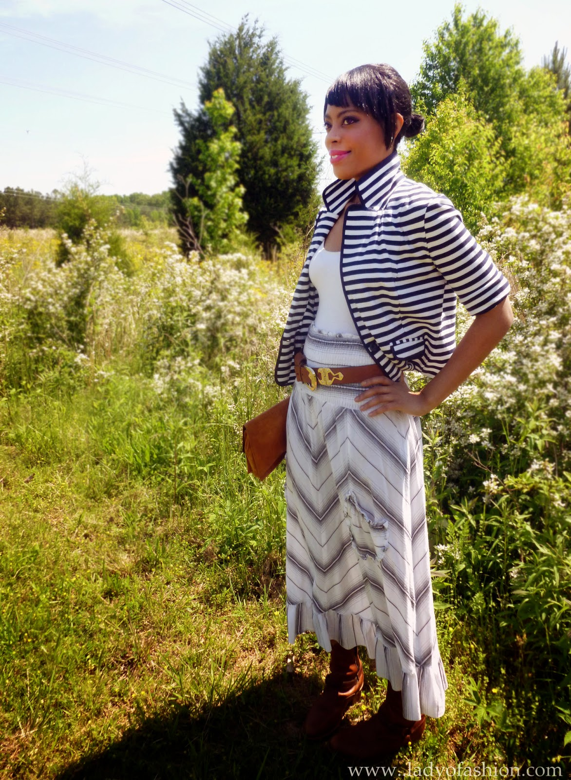 Stripes jackets summer skirts