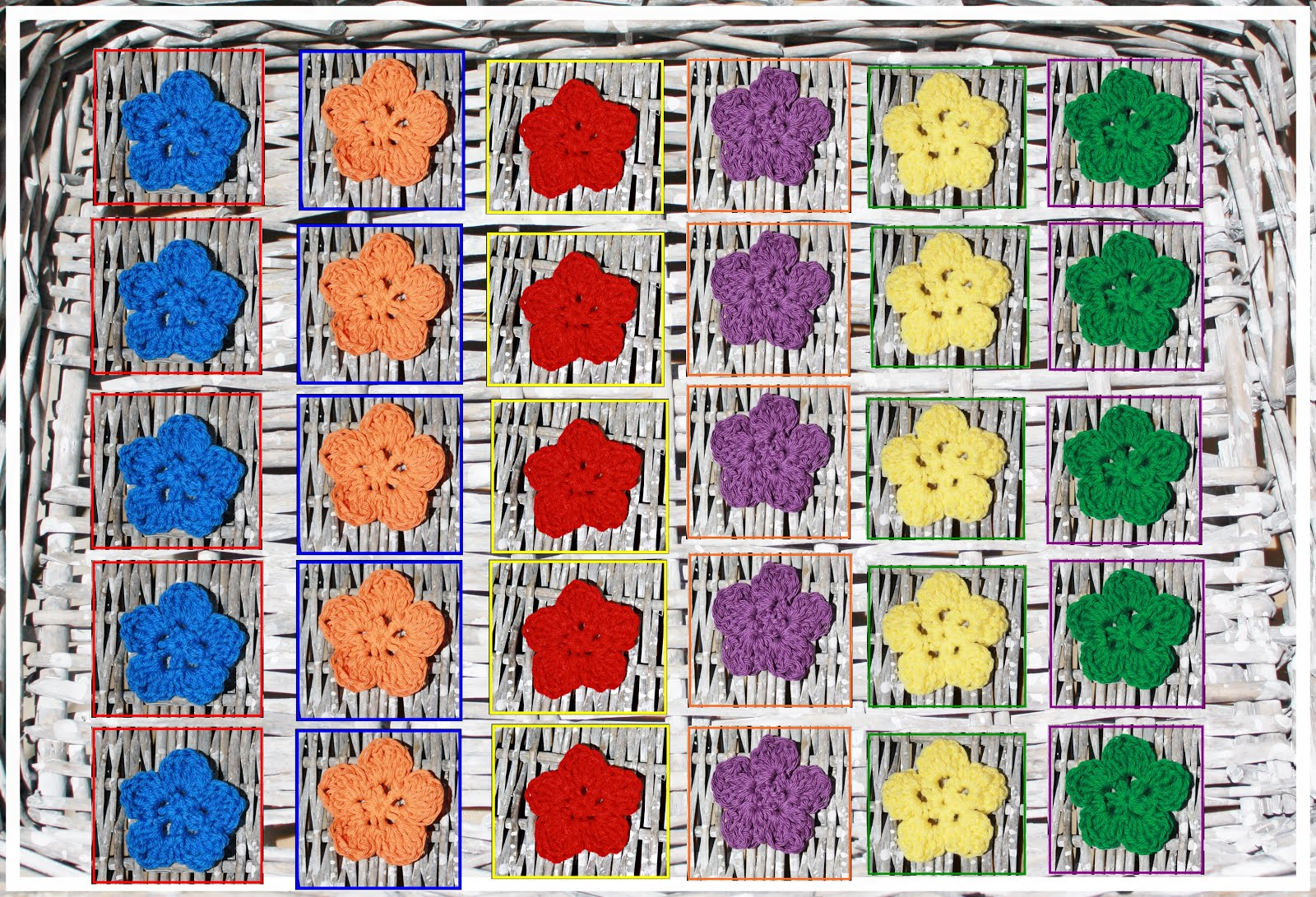 Primary Colors Flowers Manipulatives