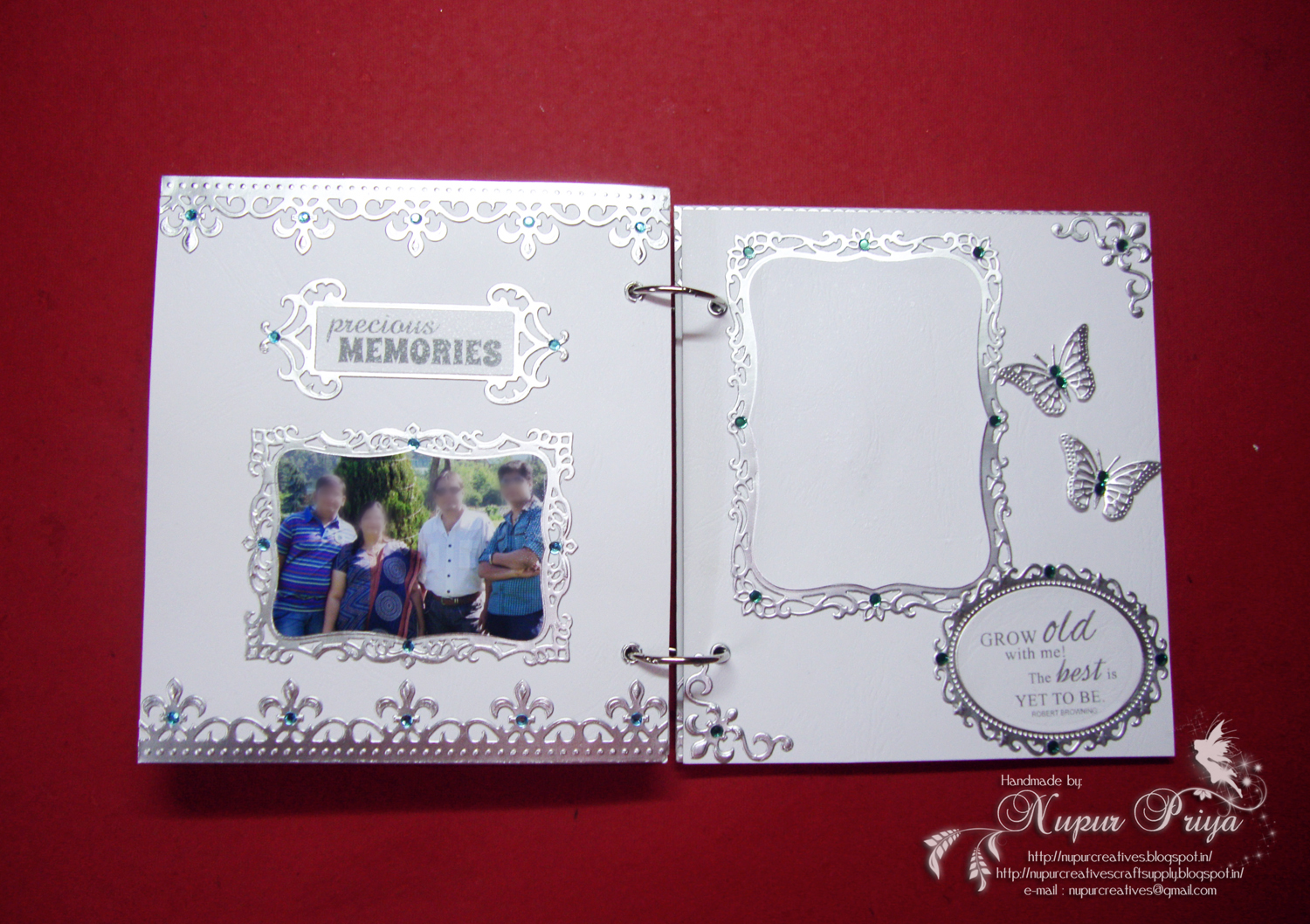 Nupur creatives: 25th wedding anniversary scrapbook