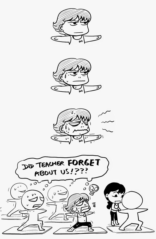 yoga pilates comics webcomics cartoon manga