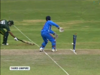 India-V-Pakistan-Warmup-T20-Nasir-Jamshed-Runout