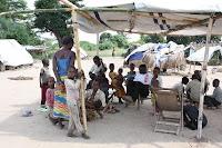 Camp de refugié de Dungu: demeure de branchages et de feuilles de palmier (Itimbiri ya Sika)