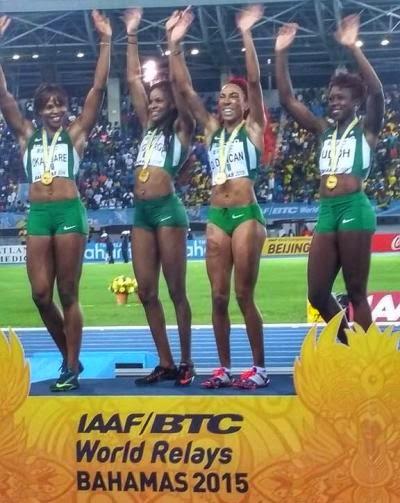 Team Nigeria (Women) wins gold at IAAF World Relay