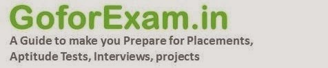 Goforexam.in Guide for Placements, Interview, Aptitude Test...