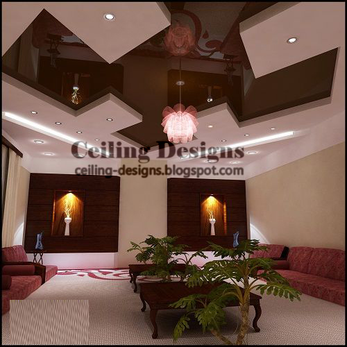 Modern Stretch Ceiling For Living Room With Fall Ceiling Accessory