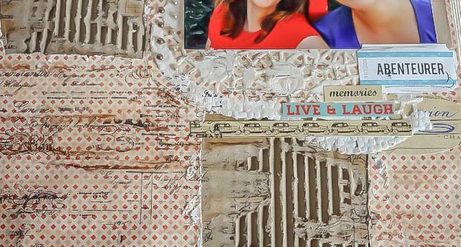7 Schritte zum kostengünstigen Vintage Scrapbook Layout