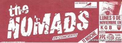 entrada de concierto de the nomads