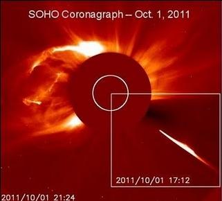 Cometa espeta-se contra o Sol
