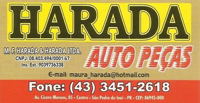 AUTO PEÇAS HARADA EM SÃO PEDRO DO IVAÍ.
