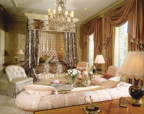 Top most elegant beds and bedrooms in the world old rose victorian style bedroom - Beautiful bedroom images ...