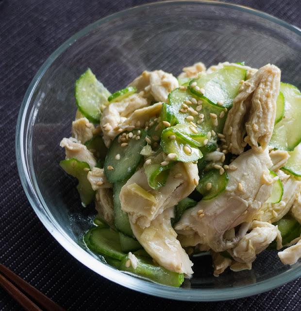 sesame soy flavor, cucumber, protein rich, chicken breast, healthy, summer salad,