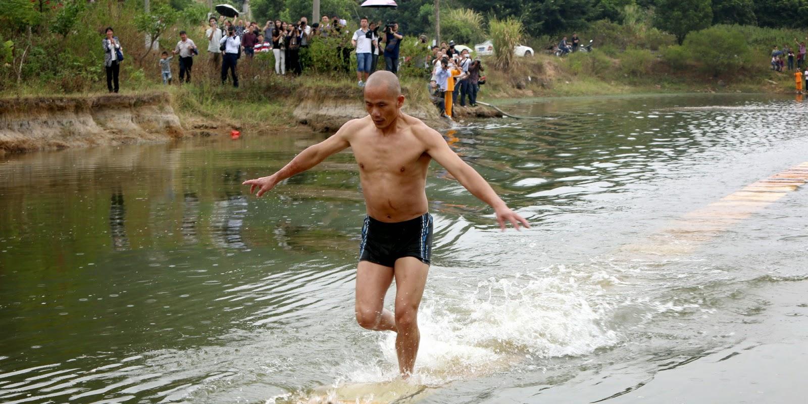 Shaolin Monk Runs 400ft on Water, Breaks Jesus's Record