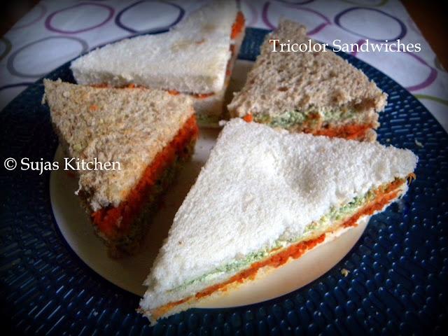 Tricolor Sandwiches