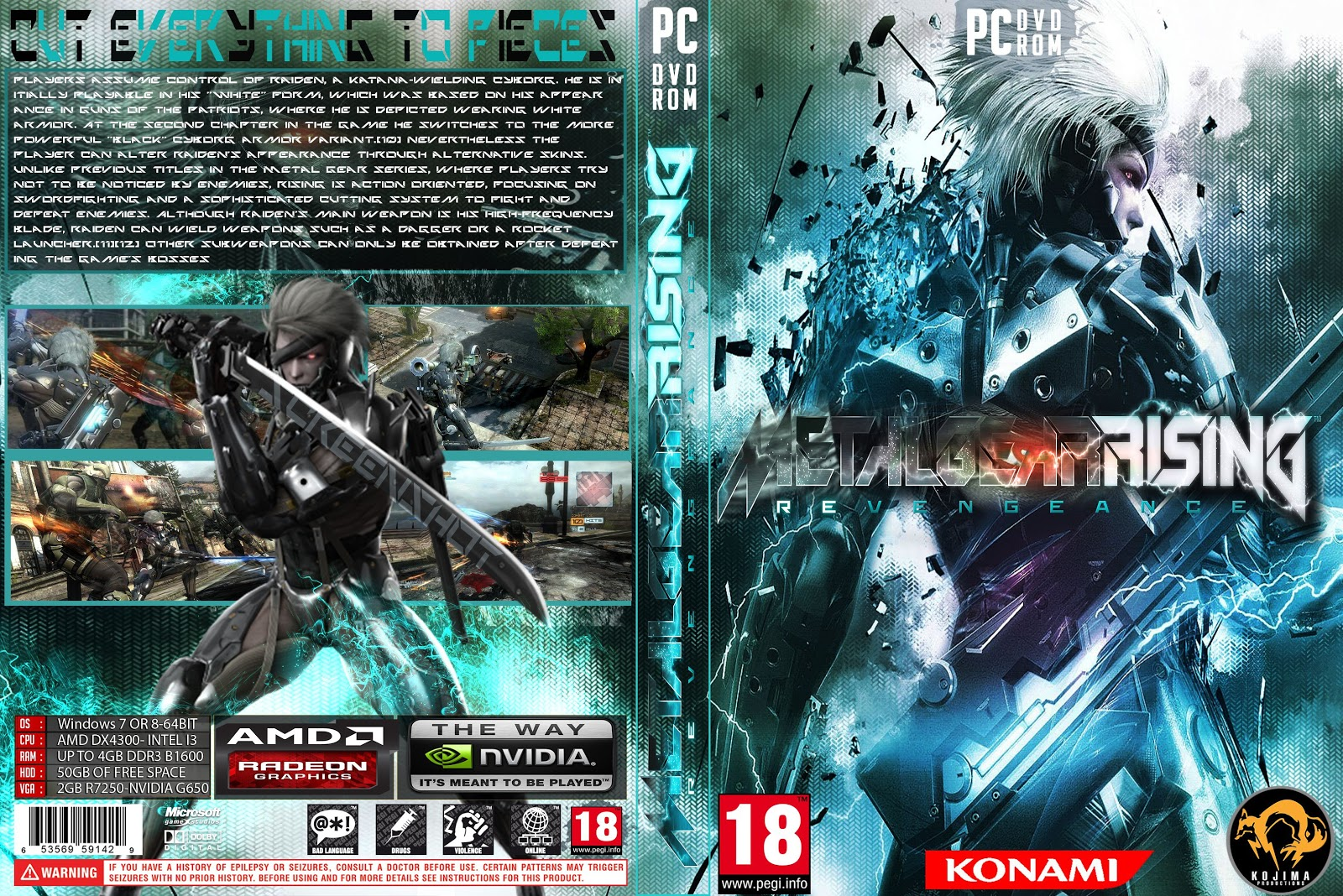 Capa Metal Gear Rising Revengeance PCMetal Gear Rising Revengeance Cover Ps3