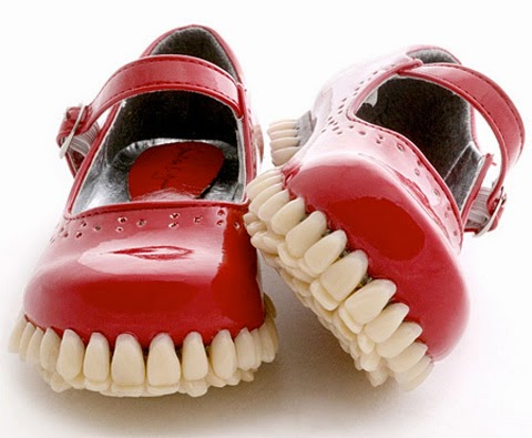 Classic Shoes with Teeth