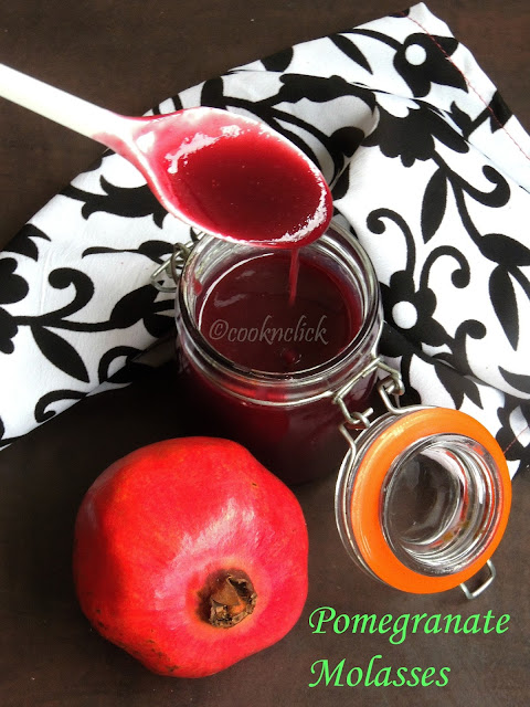 Pomegranate sauce, homemade pomegranate molasses