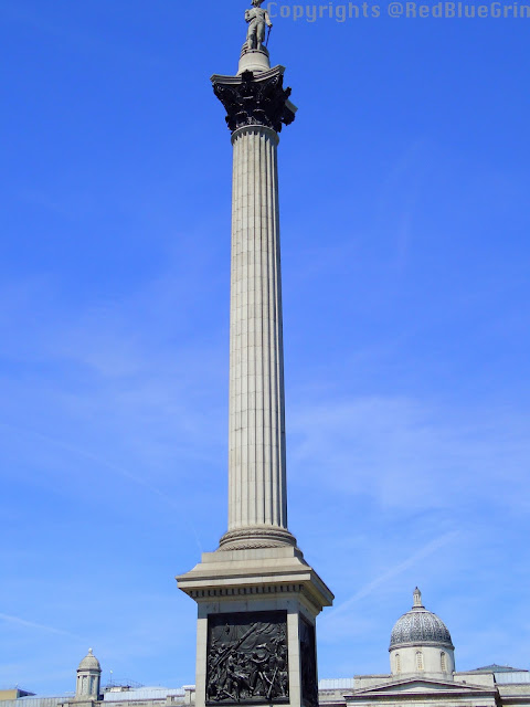 A pillar at Trafalgar Square, London, UK