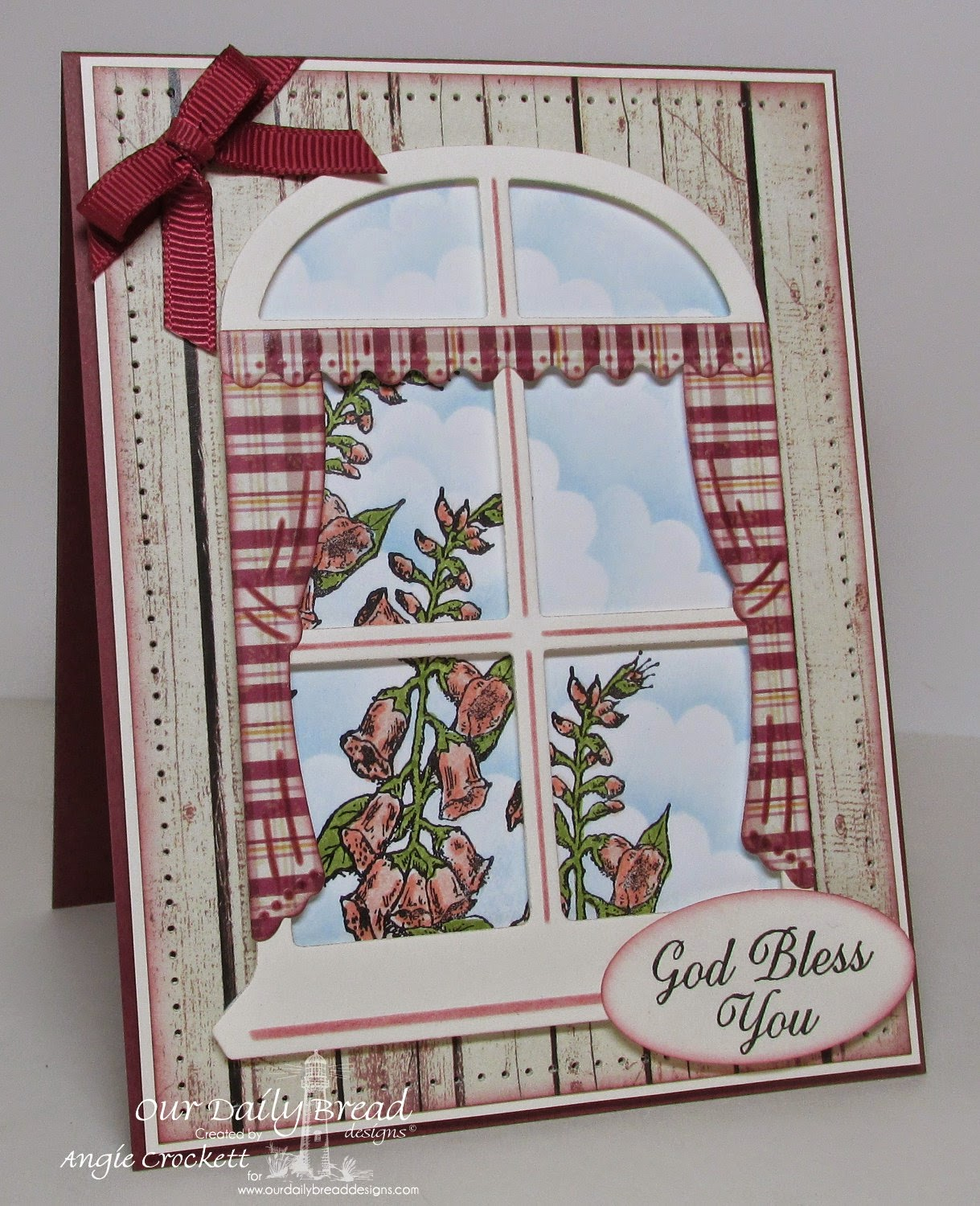 ODBD Custom Windows Die Set, Bloom, Ornate Borders Sentiments, Rustic Beauty Designer Paper Collection, Card Designer Angie Crockett
