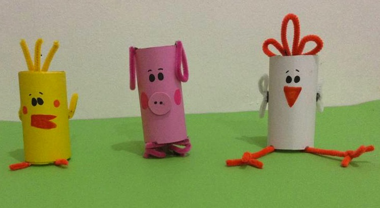 Manualidades de animales con carton de papel higienico - Imagui