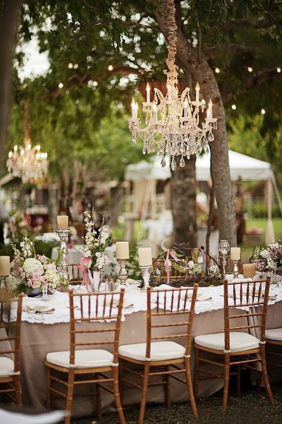 Oh mywedding l mparas de ara a para decorar la boda for Boda en un jardin de noche