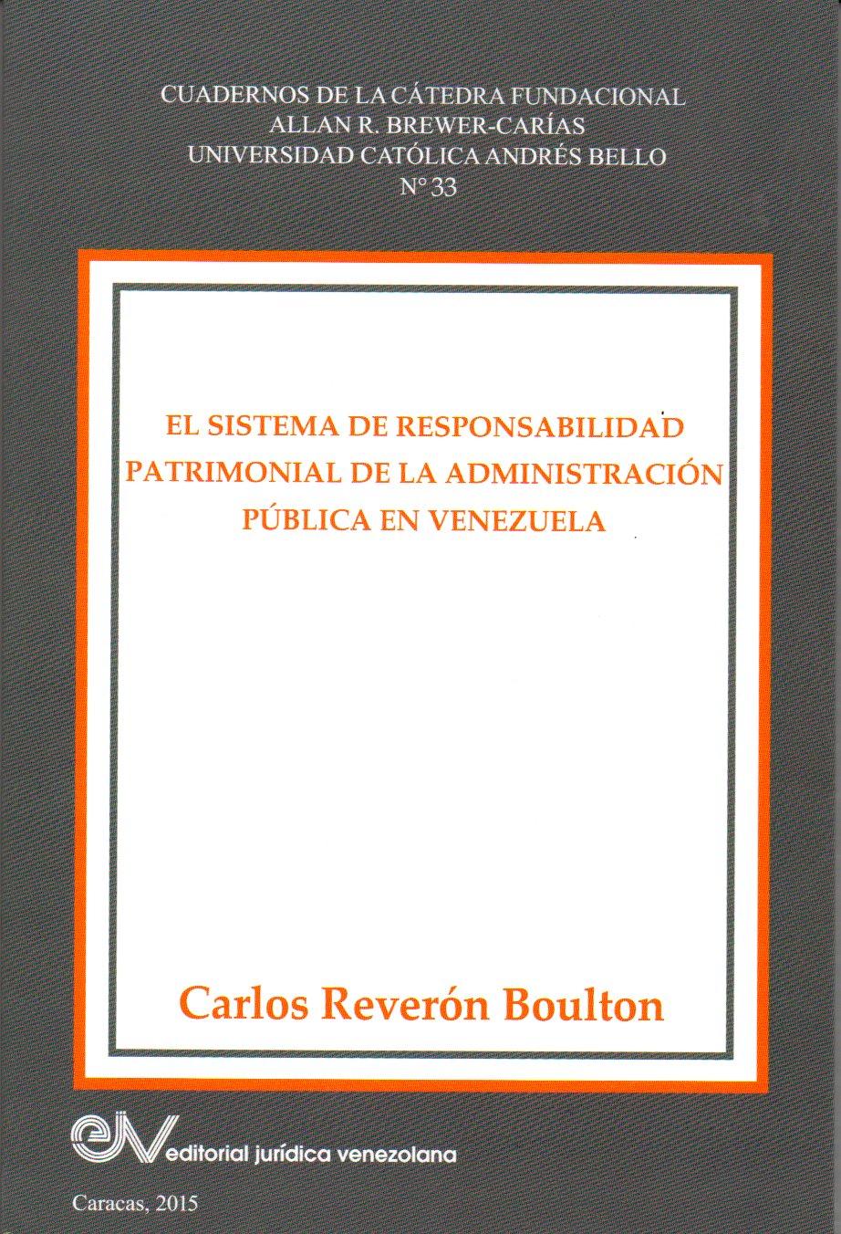 #Libro El Sistema de Responsabilidad Patrimonial de la Administración Pública en Venezuela