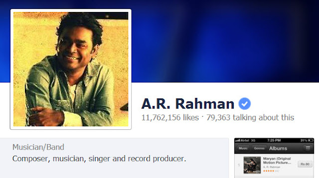 AR Rahman on FB