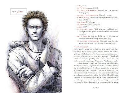 guide officiel de la saga Twilight - biographie de James
