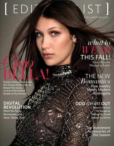 Bella Hadid Editorialist Magazine Fall Winter 2015 photo shoot