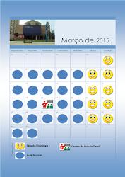 Calendário Educação Infantil Março 2015