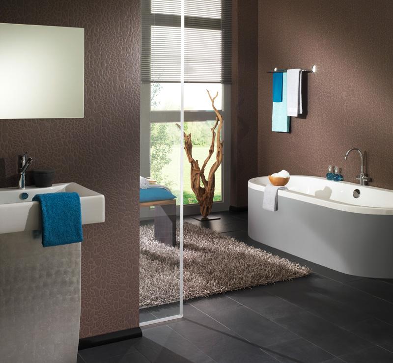papel pintado papel pintado stones style para ba os. Black Bedroom Furniture Sets. Home Design Ideas