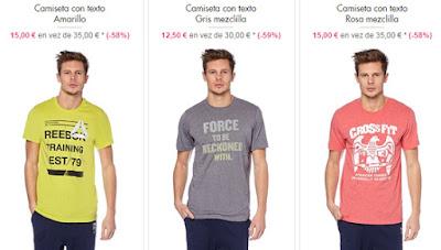 Camisetas reebok baratas