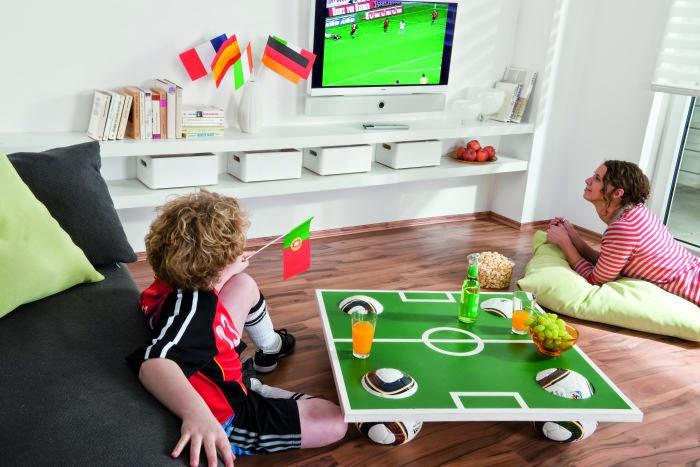 الشكل النهائي لطاولة ملعب كرة القدم
