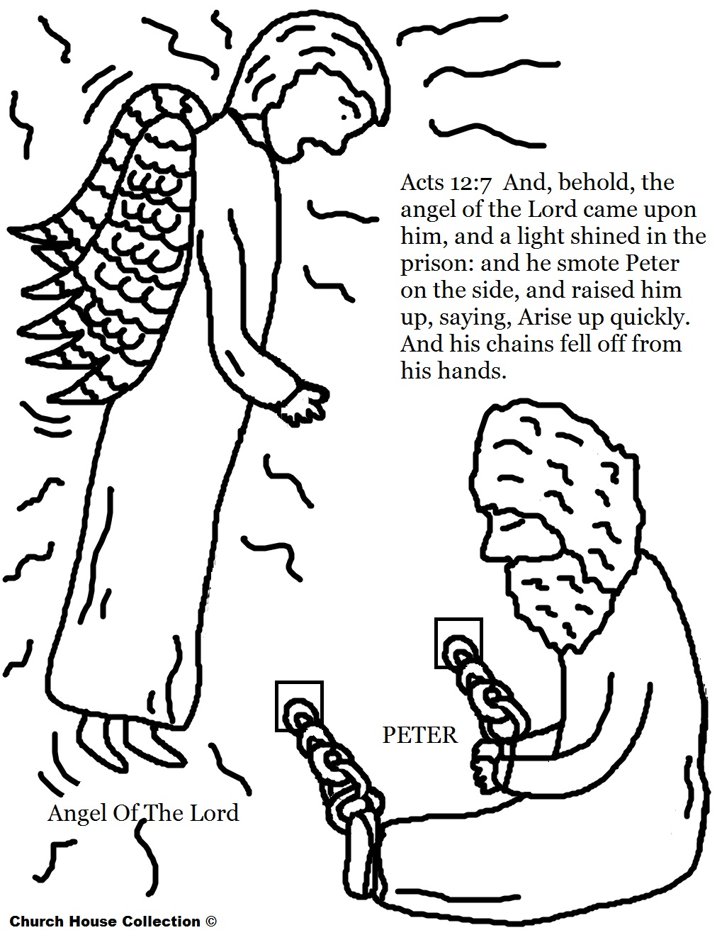 Church House Collection Blog Peter In Jail Coloring Page