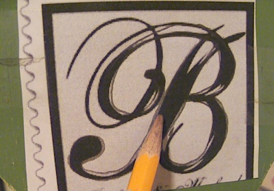 How to Transfer A Monogram To Wood: The Low-Tech, Non-Artsy, Super