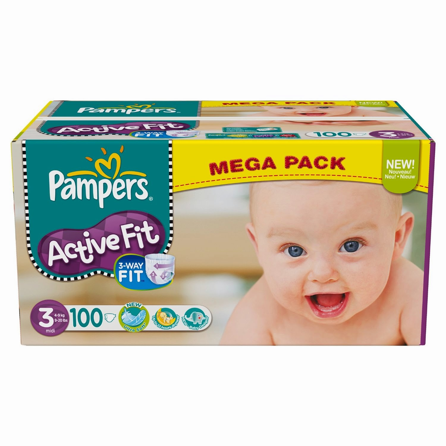 Promo couches pampers pas cher tailles 3 4 et 5 active fit promotions 2018 - Couches pas cher taille 2 ...
