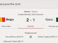 Hasil Pertandingan Belgia VS Aljazair Piala Dunia 2014