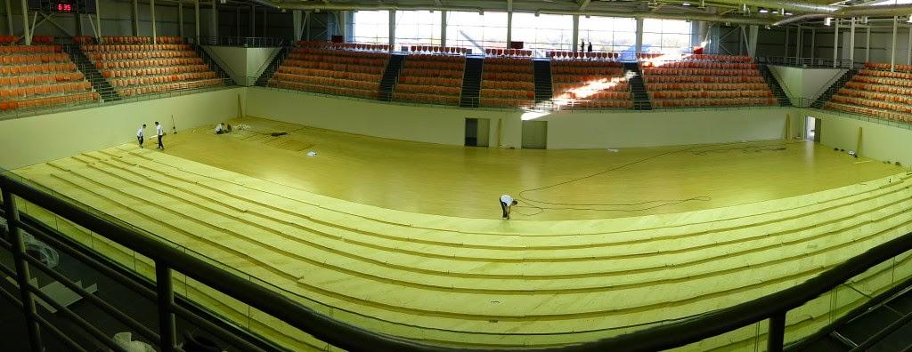 Il pavimento sportivo DR è quasi ultimato