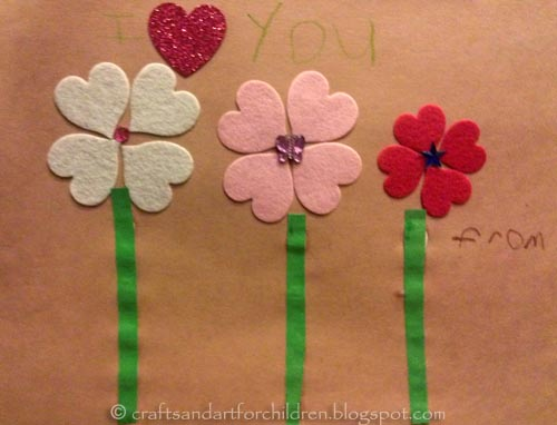 Valentine's Day Heart Stickers Craft