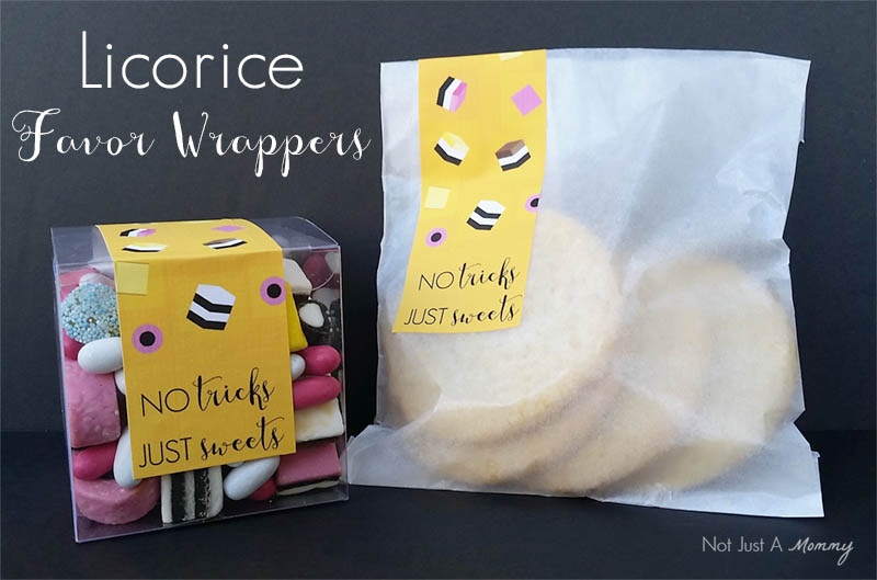Create your own Licorice Allsorts Favor Labels with a free download