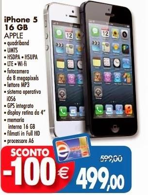 Se volete acquistare gli ultimi iPhone 5 16 disponibili sul mercato fatelo con l'offerta di Emisfero che vi garantisce uno sconto di 100 euro con la sua carta