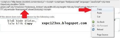Cara Memasang Jam di Blog, blog design