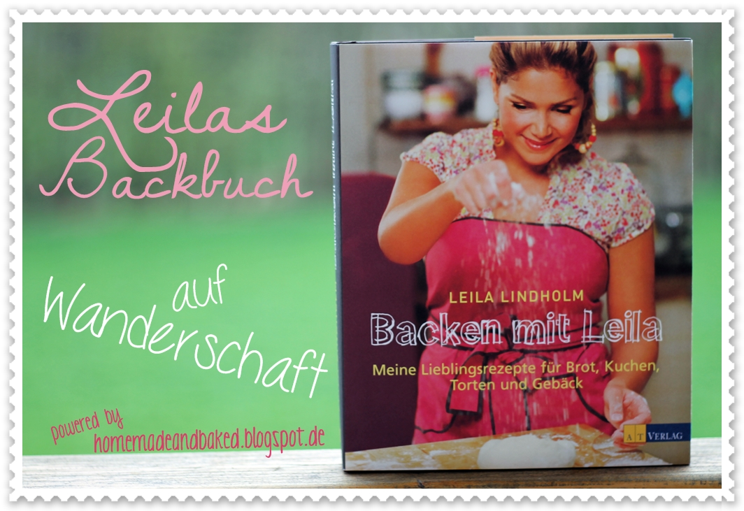 Leilas Backbuch auf Wanderschaft