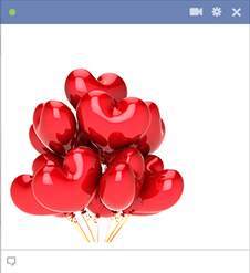 Facebook heart balloons