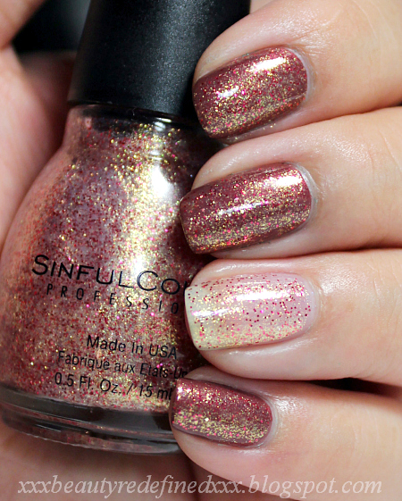 BeautyRedefined By Pang: Sinful Color Gilded Swatch