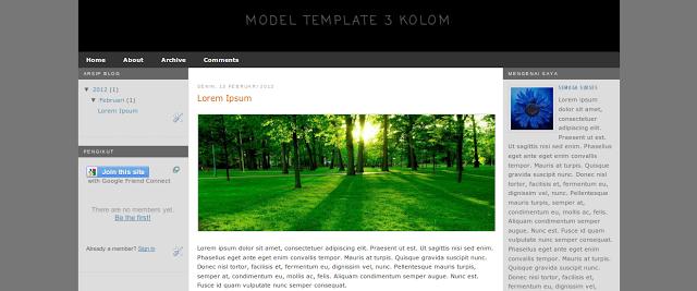 Download Kerangka Template Blog Responsive 2 dan 3 Kolom